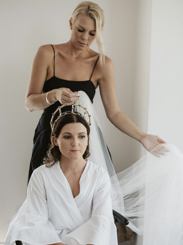 Wedding hair crown
